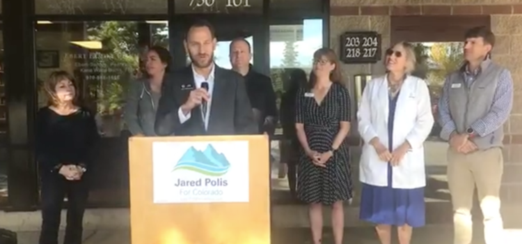 Gubernatorial candidate Jared Polis unveils plan to lower health care costs